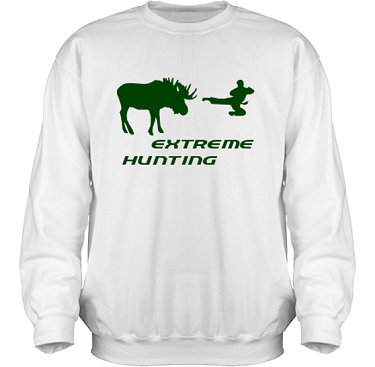 Sweatshirt HeavyBlend Vit/Grönt tryck i kategori Attityd: Extreme Hunting