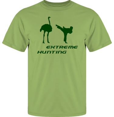 T-shirt UltraCotton Kiwi/Grönt tryck i kategori Attityd: Extreme Hunting