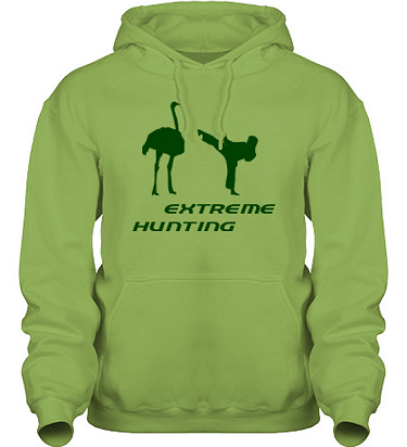 Hood HeavyBlend Kiwi/Grönt tryck i kategori Attityd: Extreme Hunting