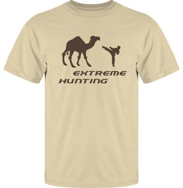 T-shirt UltraCotton Sand/Brunt tryck i kategori Attityd: Extreme Hunting