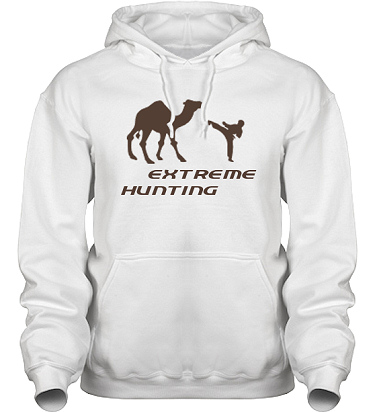 Hood HeavyBlend Vit/Brunt tryck i kategori Attityd: Extreme Hunting