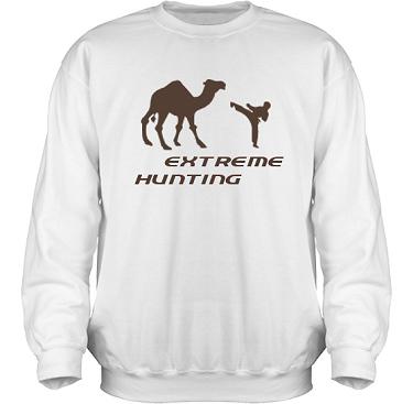 Sweatshirt HeavyBlend Vit/Brunt tryck i kategori Attityd: Extreme Hunting
