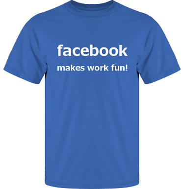 T-shirt UltraCotton Royalblå/Vitt tryck i kategori Arbete: Facebook
