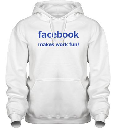 Hood HeavyBlend Vit/Royalblått tryck i kategori Arbete: Facebook