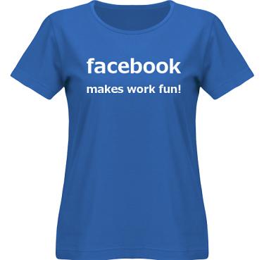 T-shirt SouthWest Dam Royalblå/Vitt tryck i kategori Arbete: Facebook