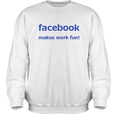 Sweatshirt HeavyBlend Vit/Royalblått tryck i kategori Arbete: Facebook