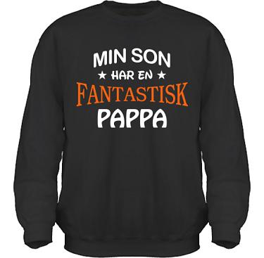 Sweatshirt HeavyBlend Svart i kategori Familj/Kärlek: Fantastisk Pappa