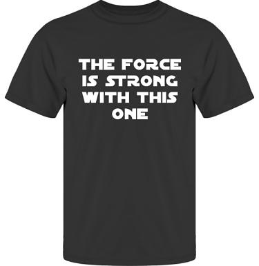 T-shirt UltraCotton Svart/Vitt tryck i kategori Film/TV: The Force