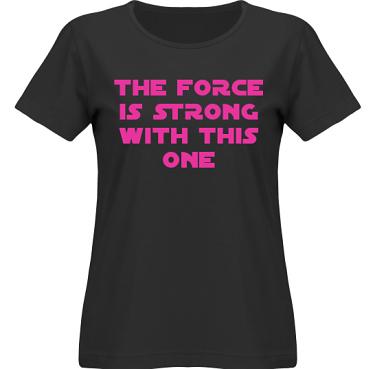 T-shirt SouthWest Dam Svart/Cerise tryck i kategori Film/TV: The Force