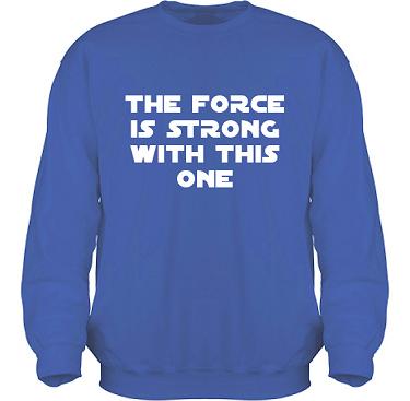 Sweatshirt HeavyBlend Royalblå/Vitt tryck i kategori Film/TV: The Force