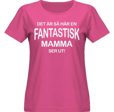 T-shirt SouthWest Dam Cerise/Vitt tryck i kategori Familj/Kärlek: Fantastisk Mamma