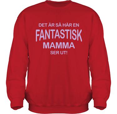 Sweatshirt HeavyBlend Röd/Lila tryck i kategori Familj/Kärlek: Fantastisk Mamma