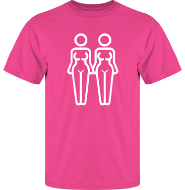 T-shirt UltraCotton Cerise/Vitt tryck i kategori Familj/Kärlek: Women in Love