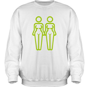 Sweatshirt HeavyBlend Vit/Äppelgrönt tryck i kategori Familj/Kärlek: Women in Love
