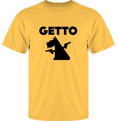T-shirt UltraCotton Gul/Svart tryck i kategori Attityd: Getto