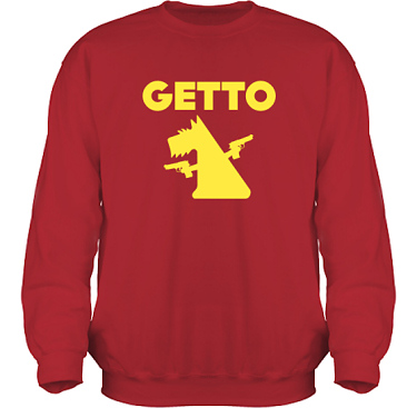 Sweatshirt HeavyBlend Röd/Gult tryck i kategori Attityd: Getto