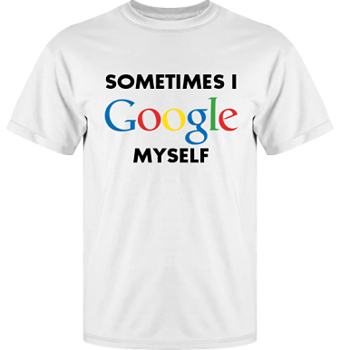 T-shirt Vapor i kategori Blandat: I Google myself