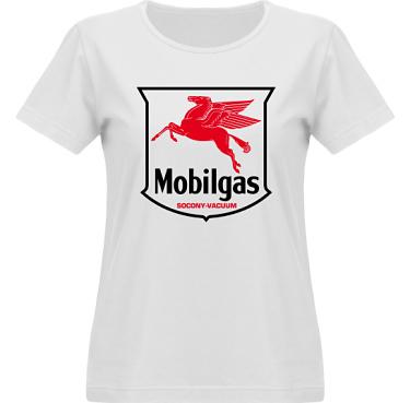 T-shirt Vapor Dam  i kategori Motor: Mobilgas