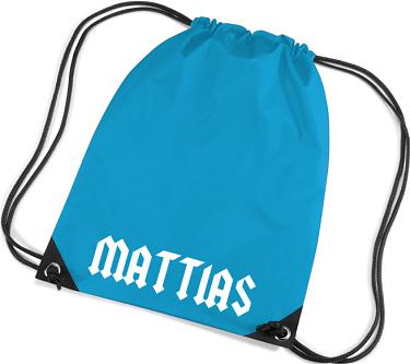 Gym Bag Blå i kategori Eget namn/text: Gym Bag Blå