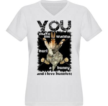 T-shirt XP522 Dam i kategori Attityd: Hurt A Bunny