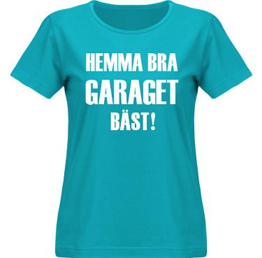 T-shirt SouthWest Dam Aquablå/Vitt tryck i kategori Motor: Hemma bra Garaget bäst