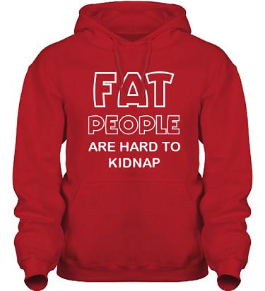 Hood HeavyBlend Röd/Vitt tryck i kategori Kropp: Hard to kidnap
