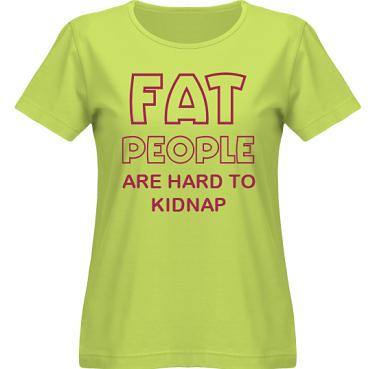 T-shirt SouthWest Dam Lime/Vinrött tryck  i kategori Kropp: Hard to kidnap