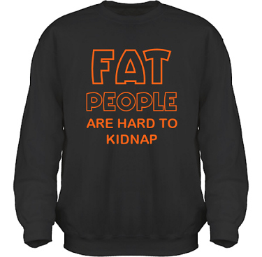 Sweatshirt HeavyBlend Svart/Orange tryck  i kategori Kropp: Hard to kidnap