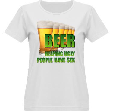 T-shirt Vapor Dam  i kategori Alkohol: Helping Ugly People