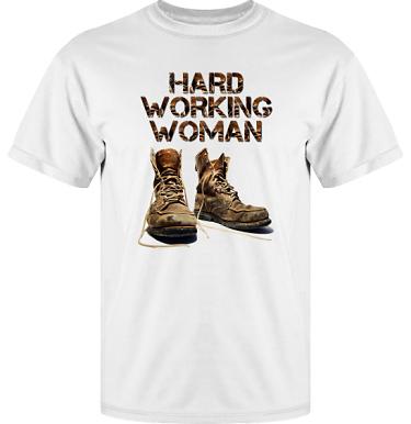 T-shirt Vapor i kategori Arbete: Hard Working Woman