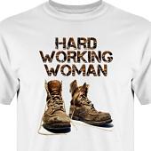 T-shirt, Hoodie i kategori Arbete: Hard Working Woman