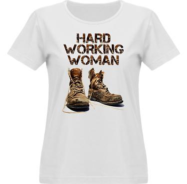 T-shirt Vapor Dam  i kategori Arbete: Hard Working Woman