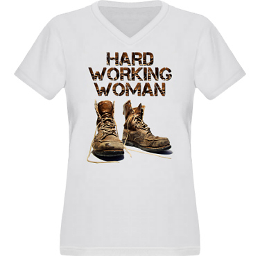 T-shirt XP522 Dam i kategori Arbete: Hard Working Woman