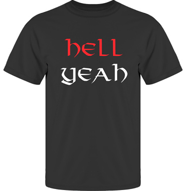 T-shirt UltraCotton Svart i kategori Attityd: Hell Yeah