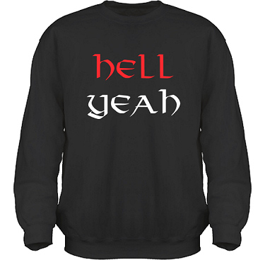 Sweatshirt HeavyBlend Svart i kategori Attityd: Hell Yeah