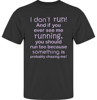 T-shirt UltraCotton Svart/Lila tryck i kategori Blandat: I dont run