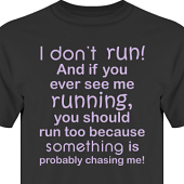 T-shirt, Hoodie i kategori Blandat: I dont run