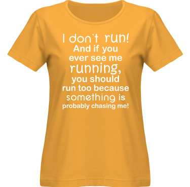 T-shirt SouthWest Dam Gul/Vitt tryck i kategori Blandat: I dont run