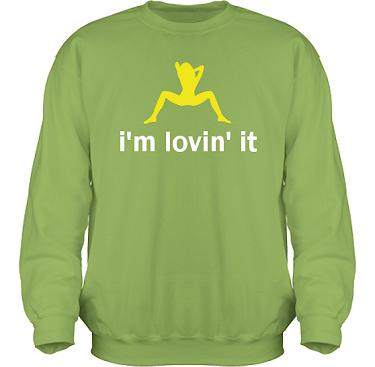 Sweatshirt HeavyBlend Kiwi/Gult och vitt tryck i kategori Sexxx: Loving it