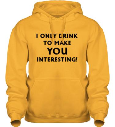 Hood HeavyBlend Gul/Svart tryck i kategori Alkohol: I only drink