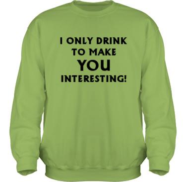 Sweatshirt HeavyBlend Kiwi/Svart tryck i kategori Alkohol: I only drink