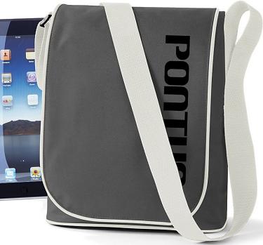 iPad-väska Grafit/Svart tryck i kategori Eget namn/text: iPad-väska Grafit