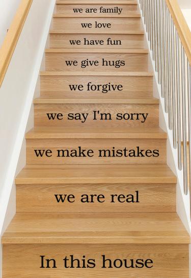 Dekor monterad i trappa i kategori Hemmet: In this house