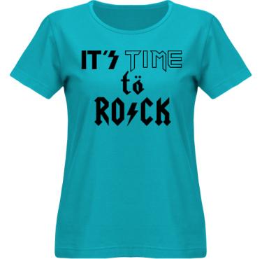 T-shirt SouthWest Dam Aquablå/Svart tryck i kategori Musik-Hårdrock: Time to Rock