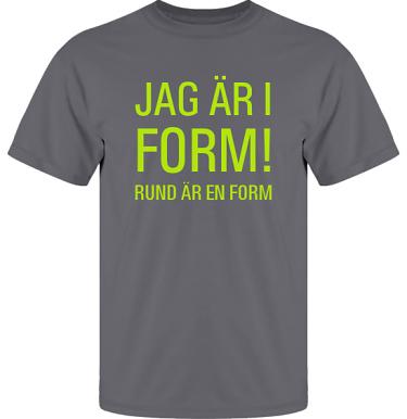 T-shirt UltraCotton Blyertsgrå/Äppelgrönt tryck  i kategori Kropp: I form