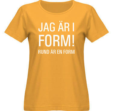 T-shirt SouthWest Dam Gul/Vitt tryck i kategori Kropp: I form