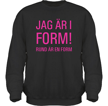 Sweatshirt HeavyBlend Svart/Cerise tryck  i kategori Kropp: I form
