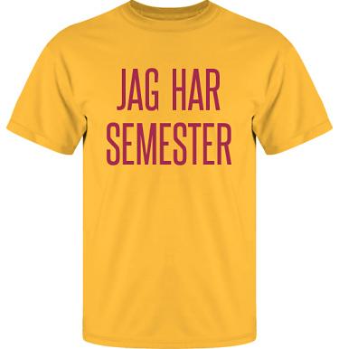 T-shirt UltraCotton Gul/Vinrött tryck  i kategori Arbete: Jag har semester