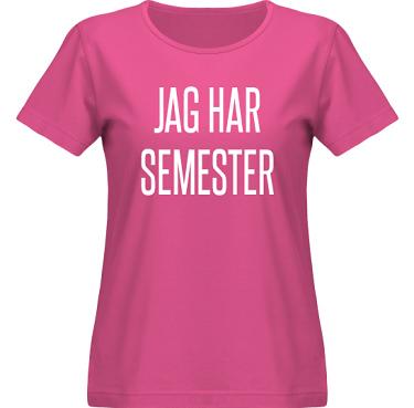 T-shirt SouthWest Dam Cerise/Vitt tryck  i kategori Arbete: Jag har semester