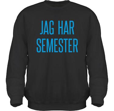 Sweatshirt HeavyBlend Svart/Blått tryck  i kategori Arbete: Jag har semester